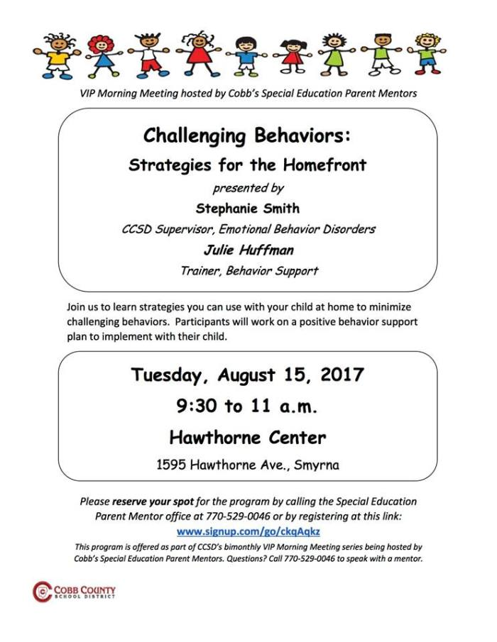 CCSD 081517 Challenging Behaviors
